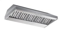 """48"""" x 19.25"""" depth Stainless Steel Built-In Range Hood with iQ12 Blower System, 1200 CFM"""