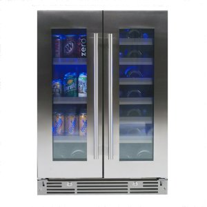 Xo Appliances24 in Beverage/Wine Double Door SS Glass