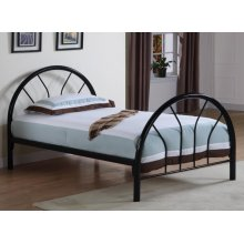Transitional Black Twin Bed
