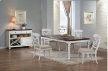 Sunset Trading 6 Piece Andrews Butterfly Leaf Dining Table Set with Server - Sunset Trading