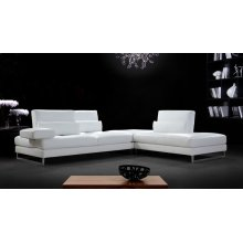 Divani Casa Tango - Modern White Leather Sectional Sofa