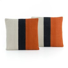 Square Style Block Stripe Sienna Pillow, Set of 2