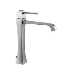 "Tall single lever washbasin mixer with pop-up assembly Extended spout projection 6-15/16"" Height 11-7/16"" Includes drain Max flow rate 1"