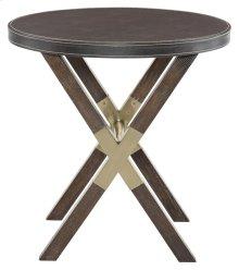 Clarendon Round End Table in Clarendon Arabica (377)