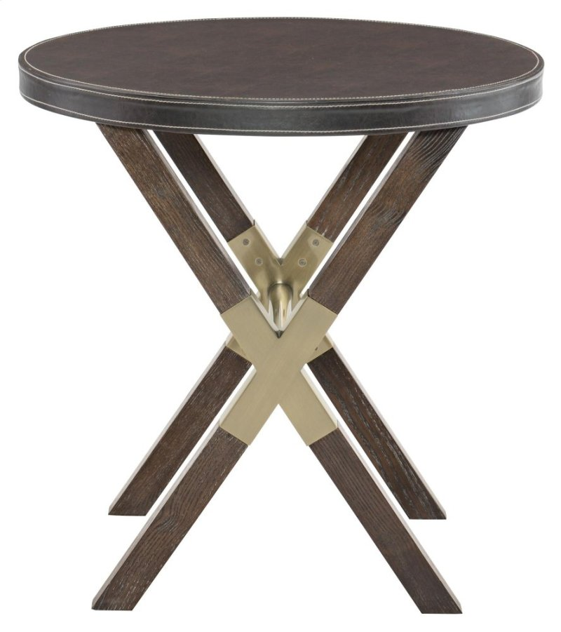 In By Bernhardt In Monroe LA Clarendon Round End Table In - Round end table with doors