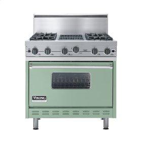 """Sage 36"""" Open Burner Commercial Depth Range - VGRC (36"""" wide, four burners 12"""" wide char-grill)"""