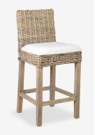 Durham Rattan Barstool w/ Upholestered Seat and Wood Base (18x20x42) Product Image