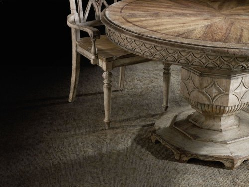 """Chatelet Round Dining Table with One 20"""" Leaf"""