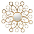 Baxton Studio Cymbeline Modern and Contemporary Antique Gold Finished Round Accent Wall Mirror Product Image