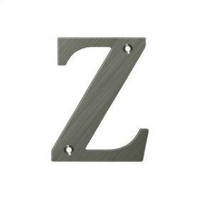 "4"" Residential Letter Z - Antique Nickel"