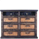 Dresser/TV Stand W/Copper Drawers Product Image