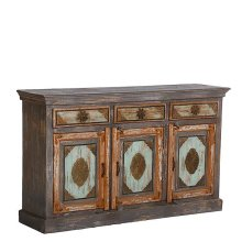 Painted 3 Drawer/3 Door Sideboard