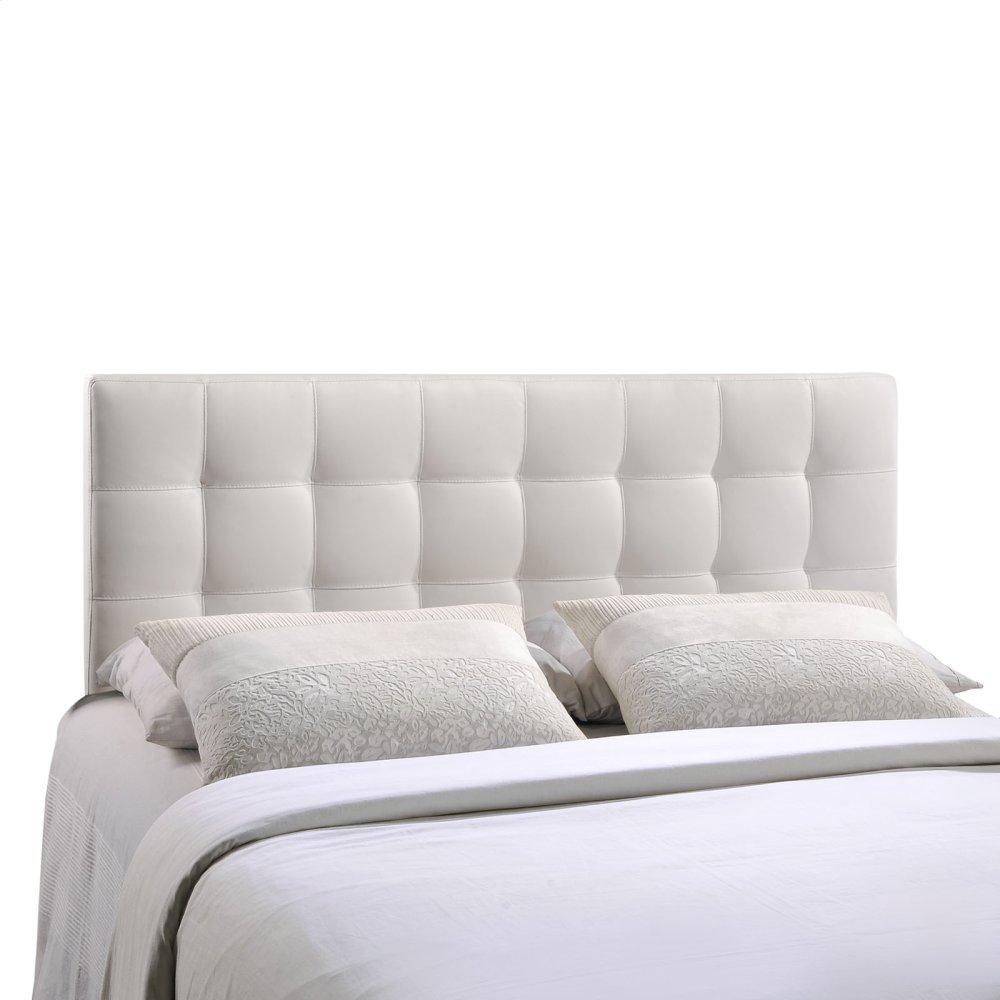 Lily King Upholstered Vinyl Headboard in White