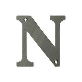 "4"" Residential Letter N - Antique Nickel"