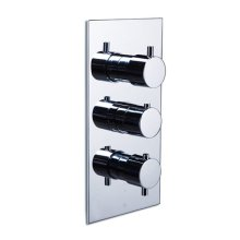 pure in-wall thermostatic mixer with 3 port combination diverter and volume control