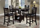 "DINING CHAIR - 2PCS / 41""H / CAPPUCCINO / BLACK SEAT Product Image"