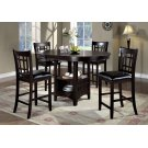 """DINING CHAIR - 2PCS / 41""""H / CAPPUCCINO / BLACK SEAT Product Image"""