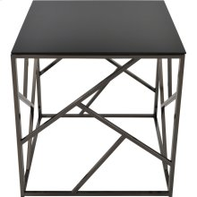 Giada Accent Table in Black Nickel
