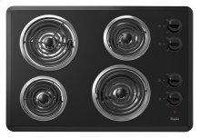 "30"" Electric Cooktop with Dishwasher-Safe Knobs"