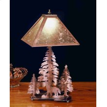 """21"""" High Wolf on the Loose Table Lamp"""