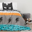 Reversible Comforter \u0026 Pillowcase - 2 Piece Set - 2-Sided Reversible Comforter - Black and White Product Image