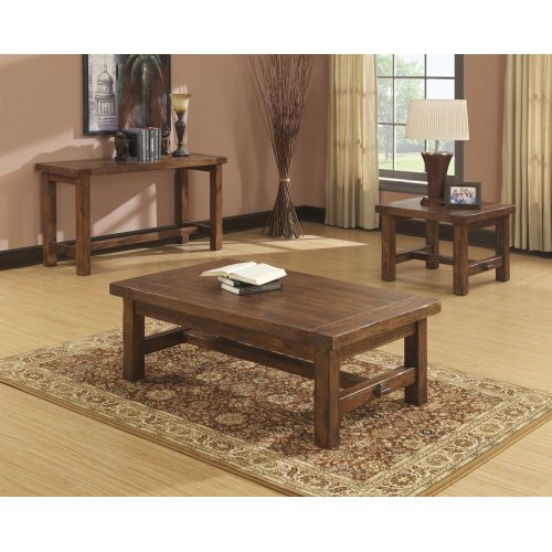 Emerald Home Chambers Creek Corner Table Brown T4121