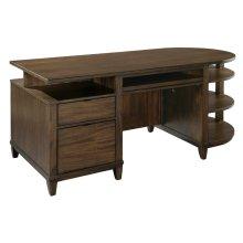office@home Oak Park Cantilevered Desk
