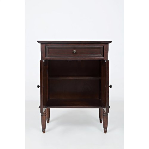 Avignon Birch Cherry Door Nightstand