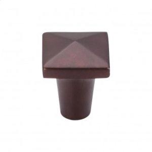 Aspen Square Knob 7/8 Inch - Mahogany Bronze