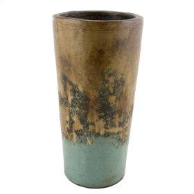 Textured Turquoise Conic Planter