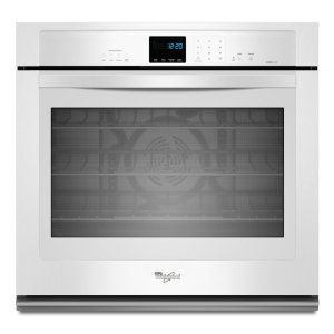 Gold(R) 5.0 cu. ft. Single Wall Oven with SteamClean Option - WHITE