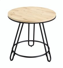 Emerald Home Penbrook Round End Table-wood Top-metal Base Natural T688-01