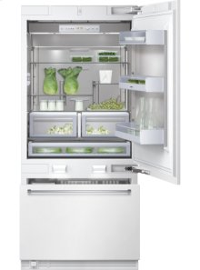 """Bottom freezer 400 series RB 491 700 fully integrated Niche width 24"""" (91.4 cm), Two-door bottom freezer with Multi-Flow Air System"""