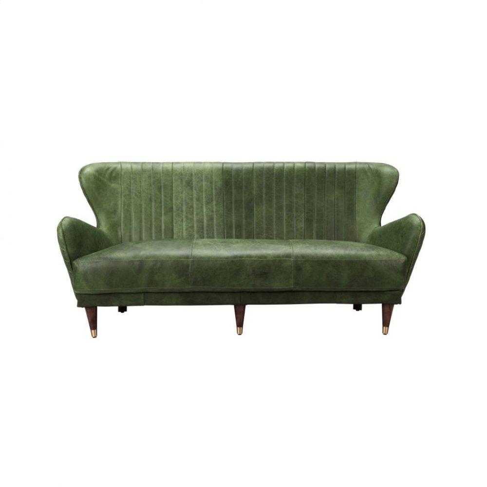 Keaton Leather Sofa Emerald