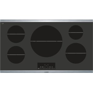 """BOSCHSerie  6 36"""" Induction Cooktop 800 Series - Black with Stainless Steel Frame NIT8666SUC"""