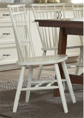 Spindle Back Side Chair - White
