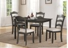 Grey 5pc Dining Set - Linen Seat Product Image