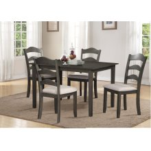 Grey 5pc Dining Set - Linen Seat