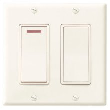 2-Function Control, 120V, 20amps, Ivory