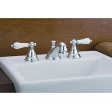 Widespread Bathroom Faucet with Porcelain Levers
