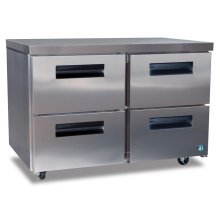 Freezer, Two Section Undercounter with Drawers