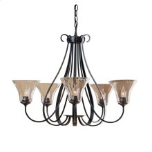 Sweeping Taper 5 Arm Chandelier