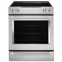 OPEN BOX KitchenAid® 30-Inch 5-Element Electric Slide-In Convection Range - Stainless Steel
