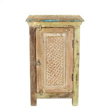 Carved Door Bedside Cabinet