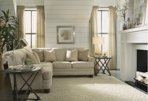 Bay Bridge Fabric Sectional without Nailhead Trim