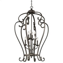 Monroe Collection Monroe 8 Light Foyer Cage Pendant in Olde Bronze