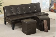 Adjustable Sofa + 2pcs Ottoman