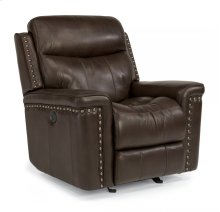 Grover Leather Power Gliding Recliner