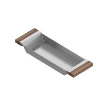 Colander 205218 - Stainless steel sink accessory , Walnut