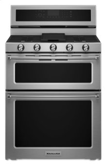 30-Inch 5 Burner Gas Double Oven Convection Range - Stainless Steel